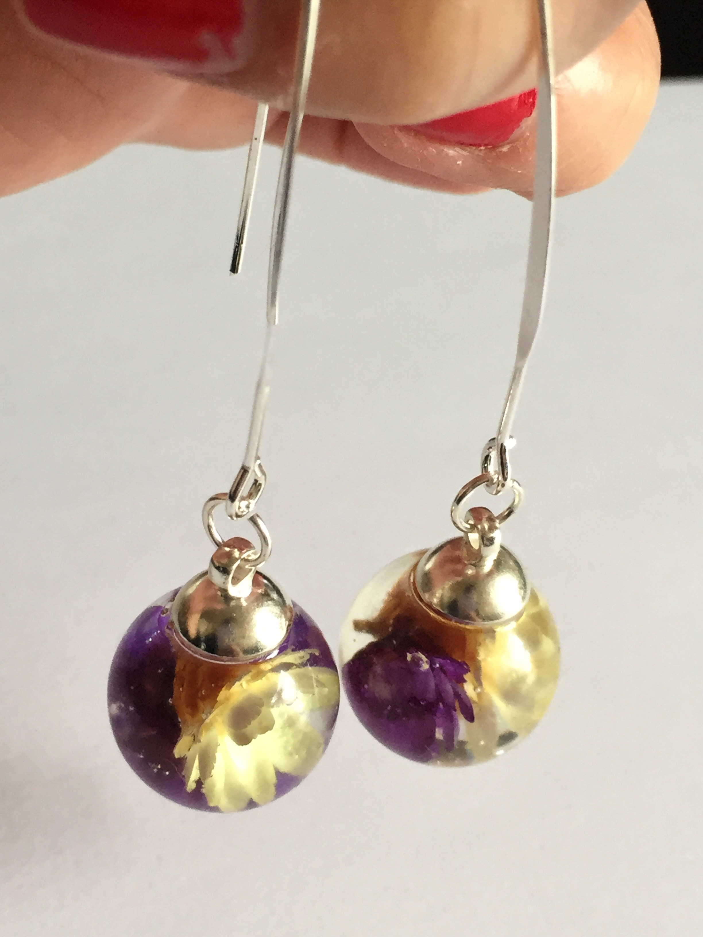 original rea drop la more purple earrings flower products jewelry beaded and image