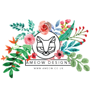 Ameow Designs & Botanical Floral Resin Jewellery Logo